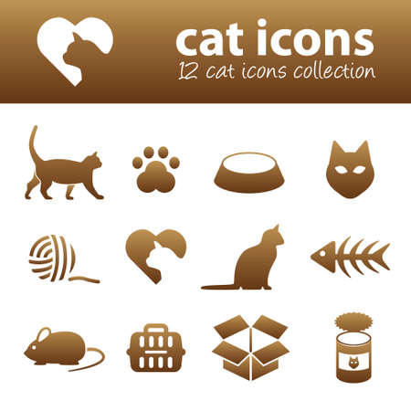 cat and mouse: cat icons