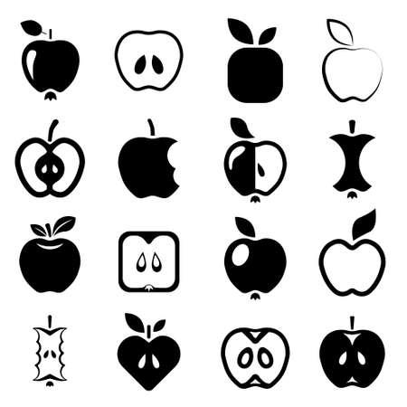apple bite: apple icons