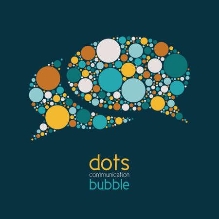 dots communication bubble 免版税图像 - 38277710