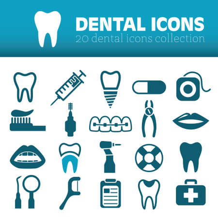 healthy mouth: dental icons