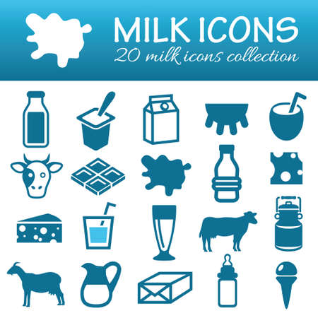 dairy cows: milk icons