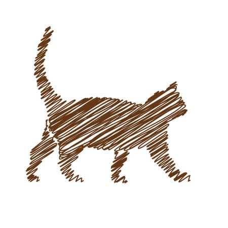 skew: cat handwriting picture