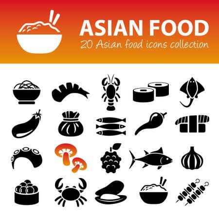 iconos de comida asiática