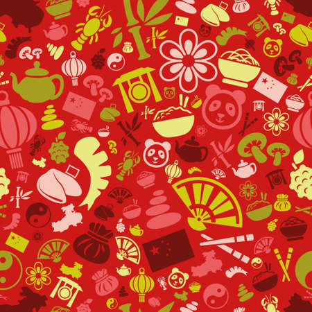 fortune cookie: china seamless pattern