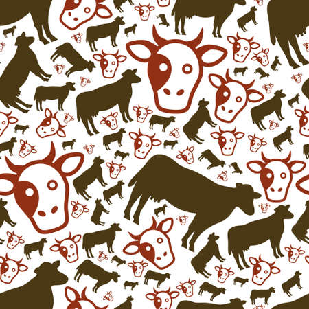 cow seamless pattern Imagens - 38930838