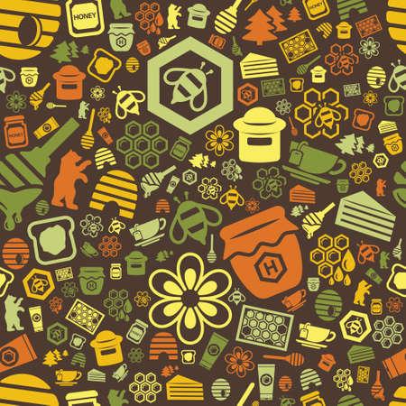 dross: honey seamless pattern Illustration