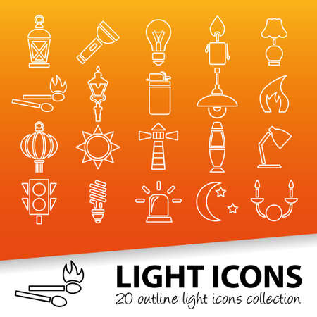 stoplights: light outline icons
