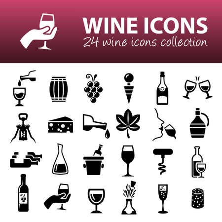 wine grape: wine icons