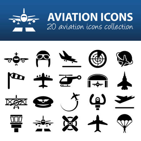 aviation icons Stok Fotoğraf - 39439505