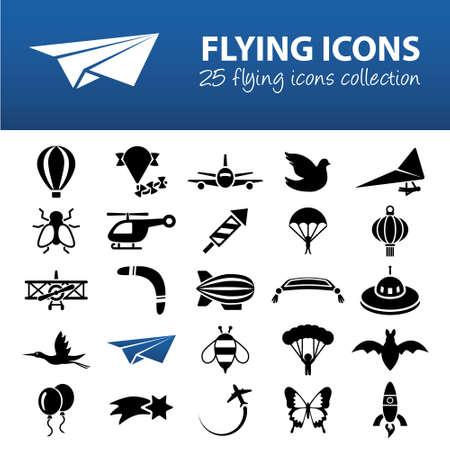 hang glider: flying icons