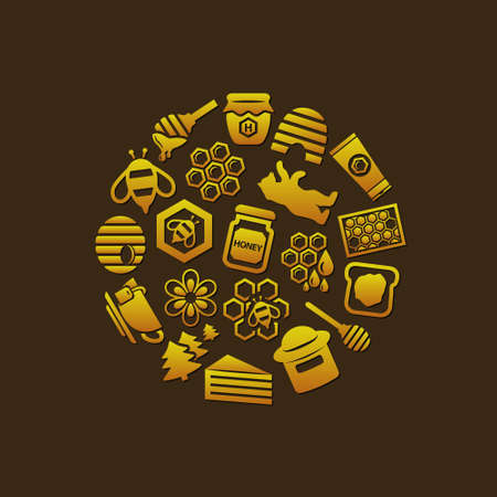dross: honey icons in circle