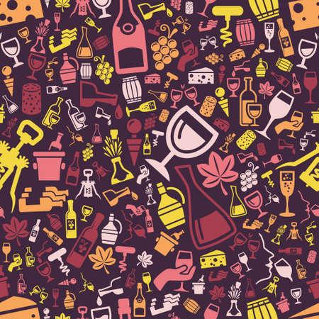 demijohn: wine seamless pattern