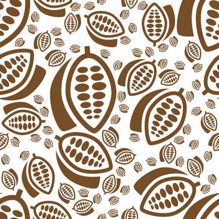 cocoa seamless pattern