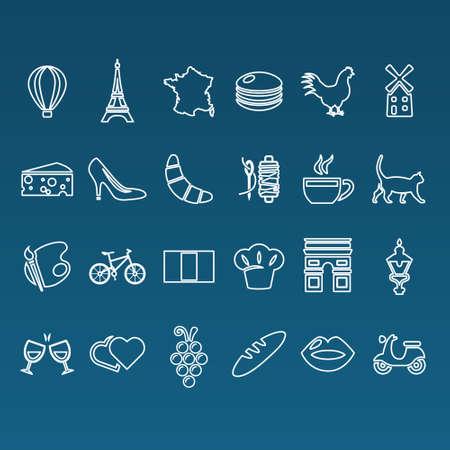 triumphal: france outline icons