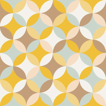 retro circles: abstract seamless pattern Illustration
