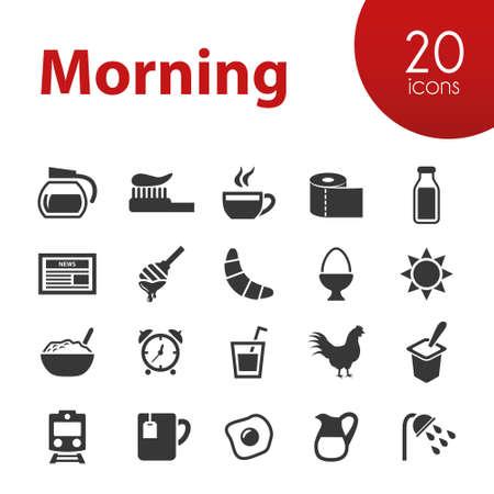 yogur: Iconos de la mañana