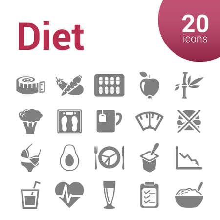 tape measure: diet icons