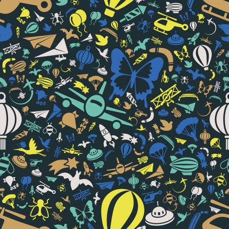 banger: flying seamless pattern