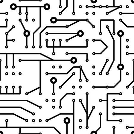 electrics: printed circuit seamless pattern