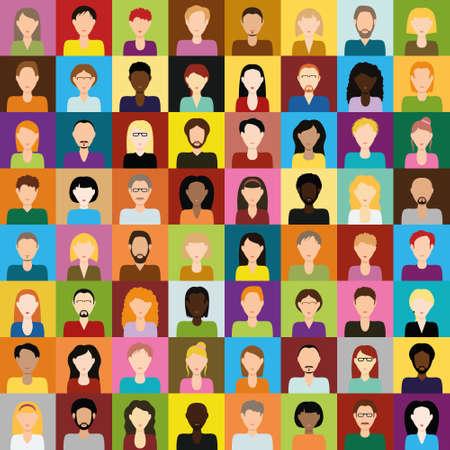 personas: iconos de personas  Vectores