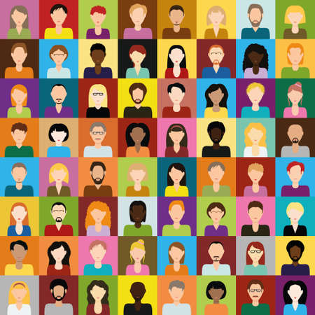 people icons Stock Illustratie
