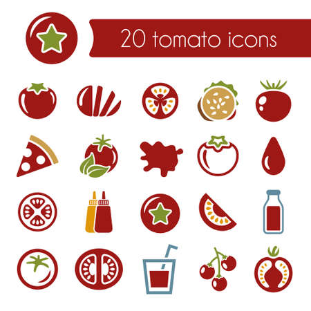 tomatoes: tomato icons Illustration