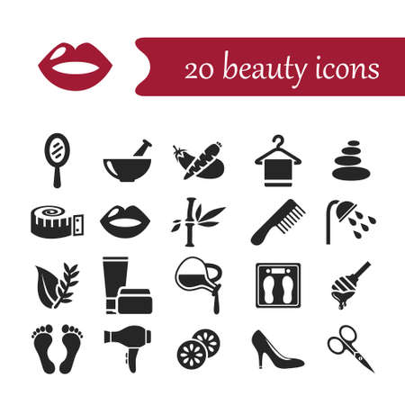beauty icons Illustration