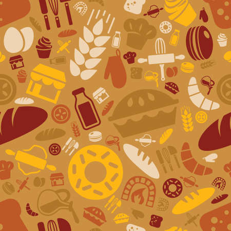 tools icon: bakery seamless pattern