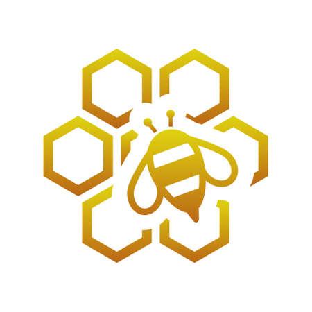 abeja: abeja con el peine Vectores