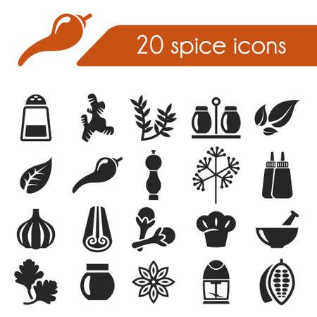epices: icônes d'épices Illustration