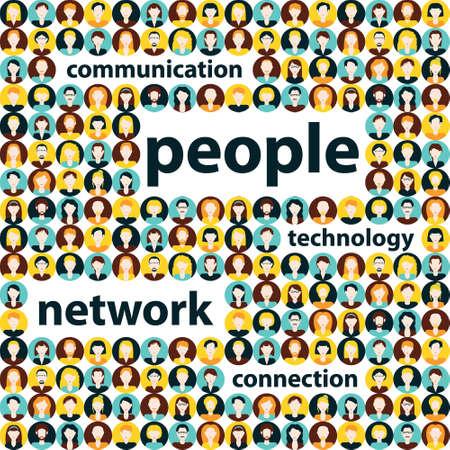 comunicazione: comunicazione persone Vettoriali