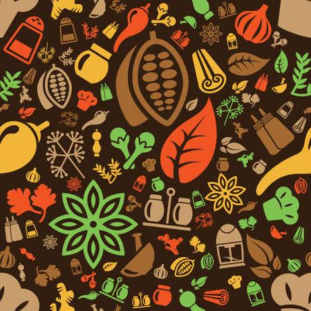 cocoa: spice seamless pattern Illustration
