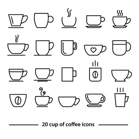 coffee mug: cup of coffe icons Illustration