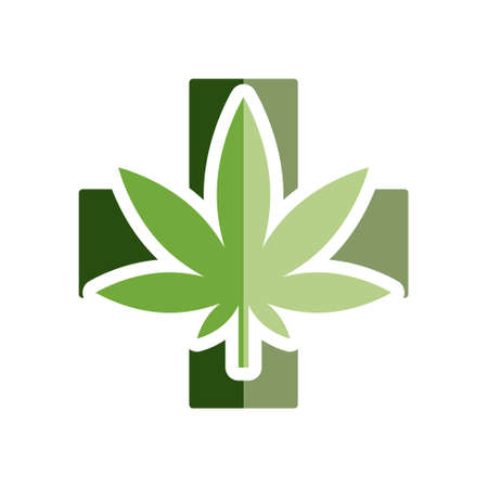curative: medical marijuana flat icon Illustration