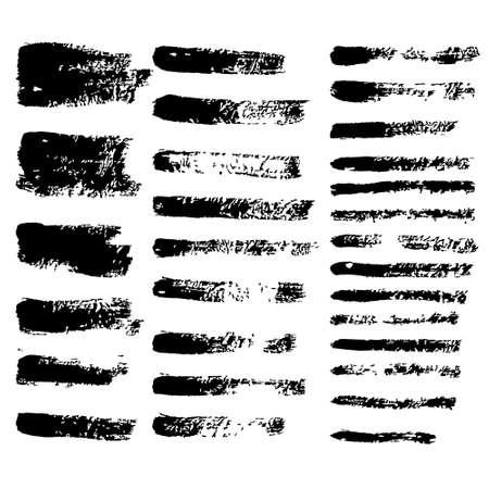 black vector grunge brushes