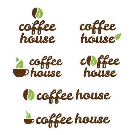 coffee beans: symbol of coffe house Illustration