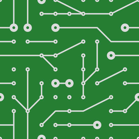 printed: printed circuit seamless pattern