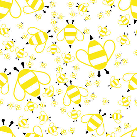 cover background time: bee seamless pattern Illustration