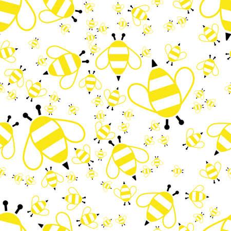 animal pattern: bee seamless pattern Illustration