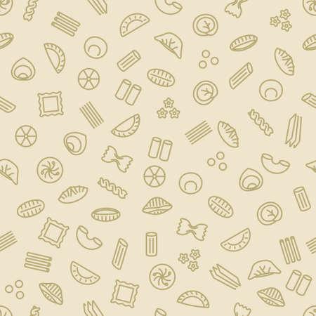 pasta and dumplings seamless pattern