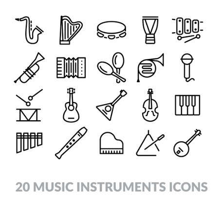 balalaika: collection of music instruments icons