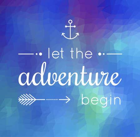 empezar: deje que la aventura comience la cita