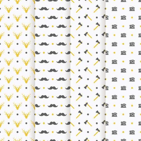 colección patrón transparente inconformista