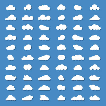 clound: sixty vector clound icons