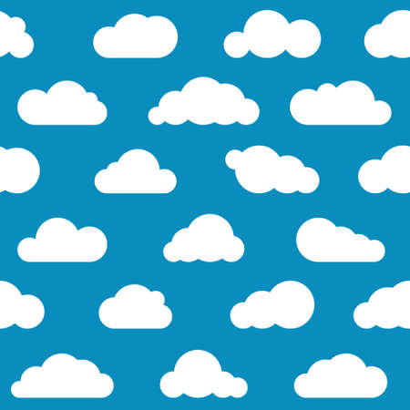 white clouds: white clouds seamless pattern