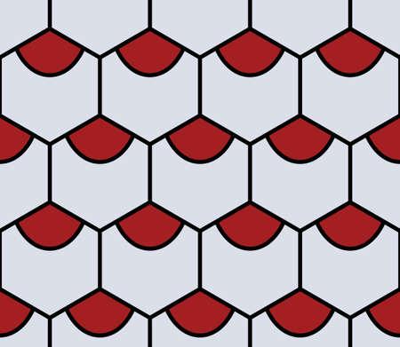 hexahedron: grey hexahedron seamless pattern