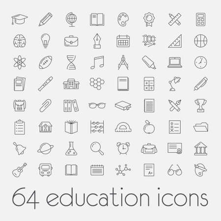 big set of education icons Ilustração
