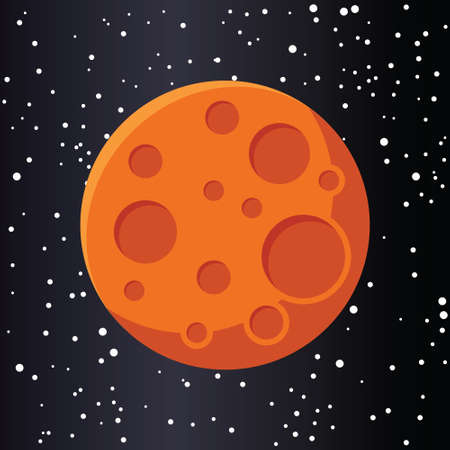 Red planet mars in space. Иллюстрация