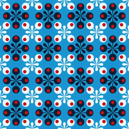 Blue abstract background with dots. Иллюстрация