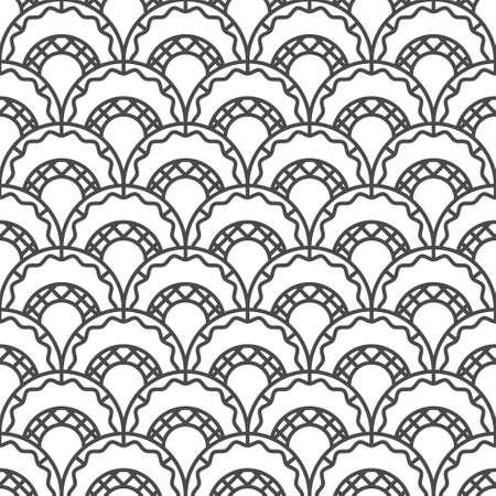 Retro arc seamless pattern.